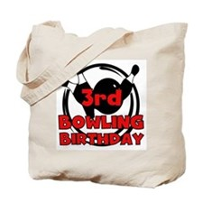 3rd Bowling Birthday Tote Bag