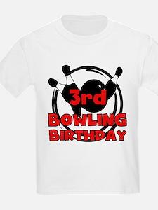 3rd Bowling Birthday T-Shirt