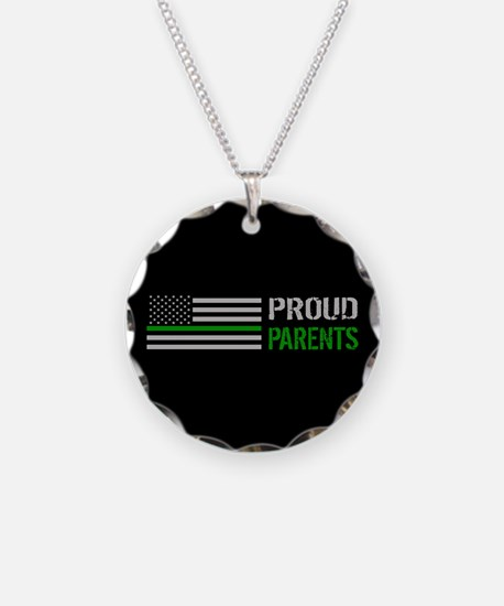 U.S. Flag Green Line: Proud Necklace