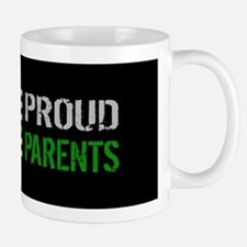 U.S. Flag Green Line: Proud Parents (Bl Mug