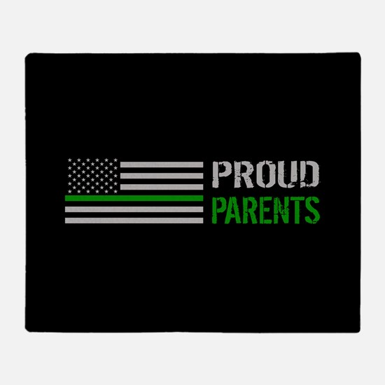 U.S. Flag Green Line: Proud Parents Throw Blanket