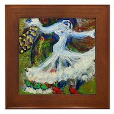 Cool Spanish dance art Framed Tile