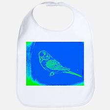 Blue and Green Parakeet Bib