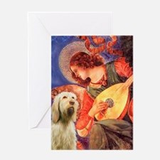 Mandolin Angel/Spinone Greeting Card