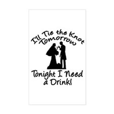 Need a Drink Hen Party Rectangle Decal