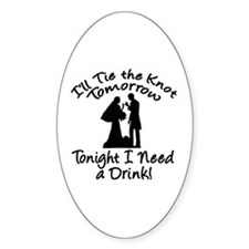 Need a Drink Hen Party Oval Decal