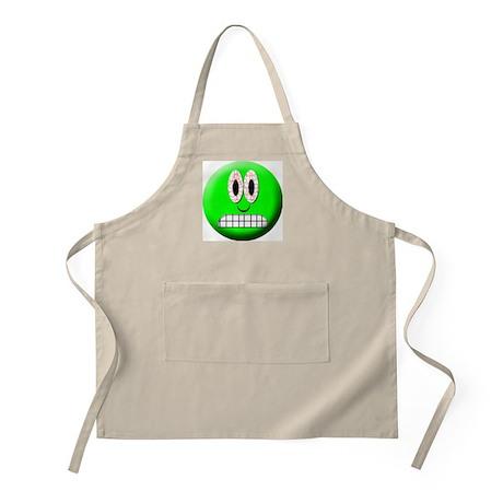 Frighten Mood Smiley BBQ Apron