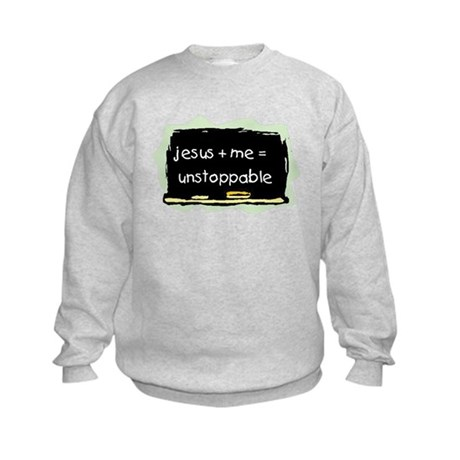 Jesus+Me=Unstoppable Kids Sweatshirt
