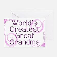 World's Greatest Great Grandma Greeting Cards (Pk