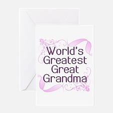 World's Greatest Great Grandma Greeting Card