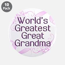 "World's Greatest Great Grandma 3.5"" Button (10 pac"