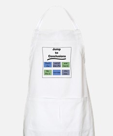 Jump to Conclusions Mat BBQ Apron