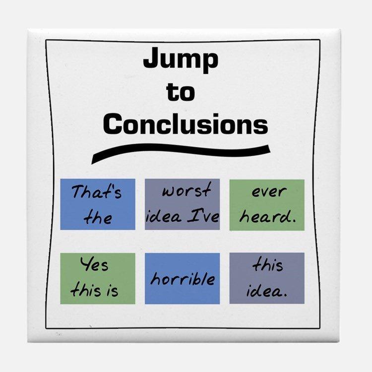 Jump to Conclusions Mat Tile Coaster