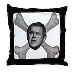 NumbSkull And Bones Throw Pillow