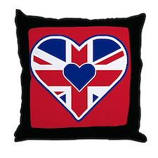 I Heart Brittania! Union Jack Inspired Throw Pillo