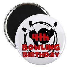 4th Bowling Birthday Magnet