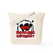 4th Bowling Birthday Tote Bag