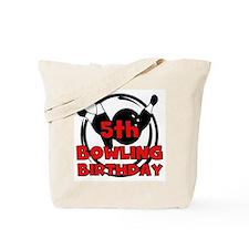 5th Bowling Birthday Tote Bag