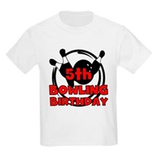 5th Bowling Birthday T-Shirt