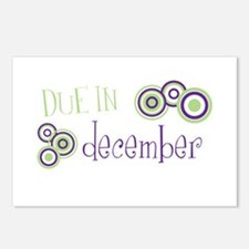 Due In December Postcards (Package of 8)