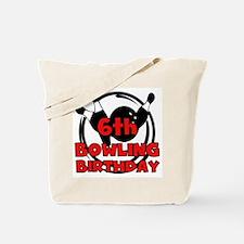 6th Bowling Birthday Tote Bag