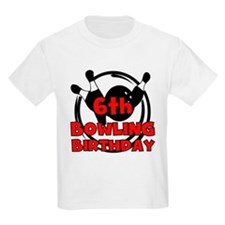 6th Bowling Birthday T-Shirt