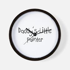 Daddy's Little Painter Wall Clock