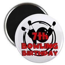 7th Bowling Birthday Magnet