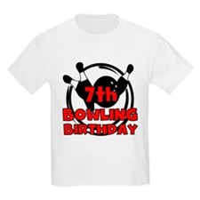 7th Bowling Birthday T-Shirt