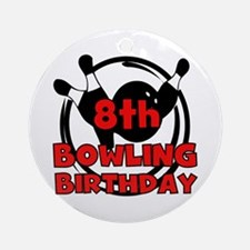 8th Bowling Birthday Ornament (Round)