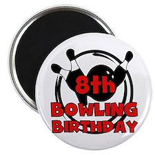 8th Bowling Birthday Magnet