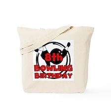 8th Bowling Birthday Tote Bag