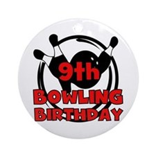 9th Bowling Birthday Ornament (Round)