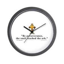 Spurgeon Pererverance Quote Wall Clock
