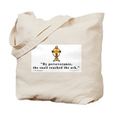 Spurgeon Pererverance Quote Tote Bag
