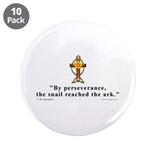 """Spurgeon Pererverance Quote 3.5"""" Button (10 pack)"""