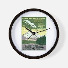 Lassen Volcanic National Park Wall Clock