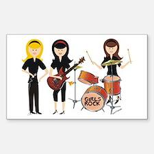 Girls Rock! Rectangle Decal
