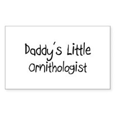 Daddy's Little Ornithologist Rectangle Decal