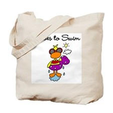 Duck Loves Swimming Tote Bag