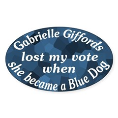 Blue Dog Gabrielle Giffords bumper sticker