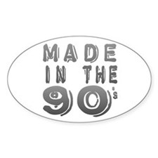 Made in the 90's Oval Decal