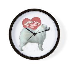 Samoyed love Wall Clock