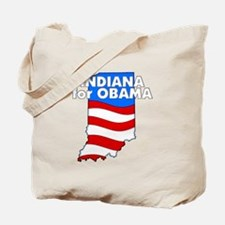 Indiana for Obama Tote Bag