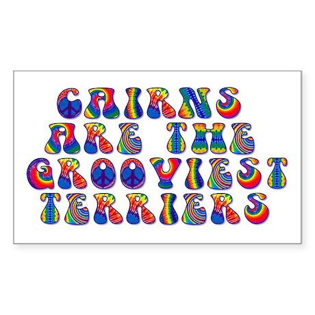 Groovy Cairn Terrier Rectangle Sticker