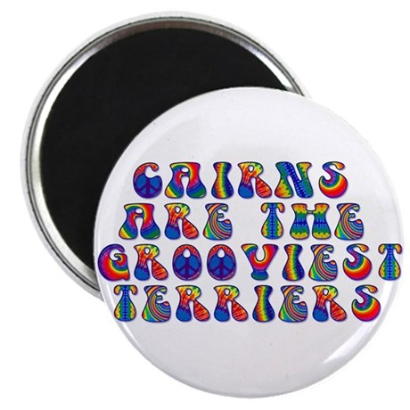 "Groovy Cairn Terrier 2.25"" Magnet (100 pack)"