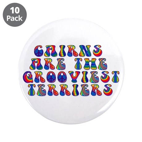 "Groovy Cairn Terrier 3.5"" Button (10 pack)"