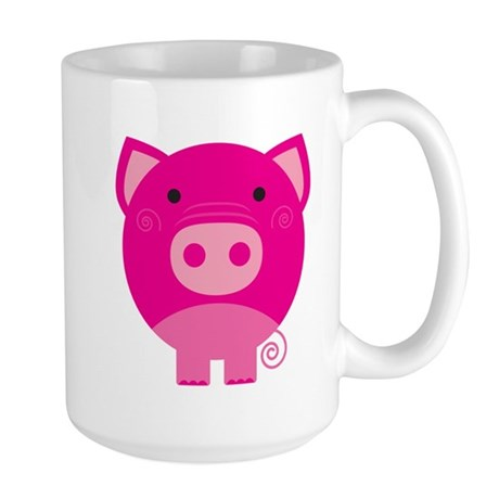 Pink Pig Large Mug