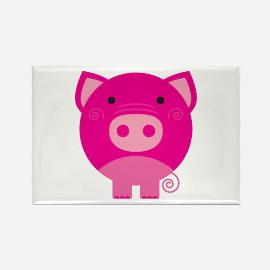 Pink Pig Rectangle Magnet