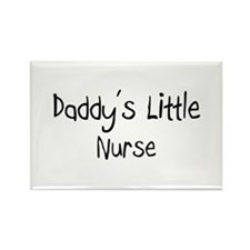 Daddy's Little Nurse Rectangle Magnet